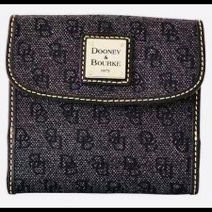 Dooney & Bourke charcoal black trifold wallet